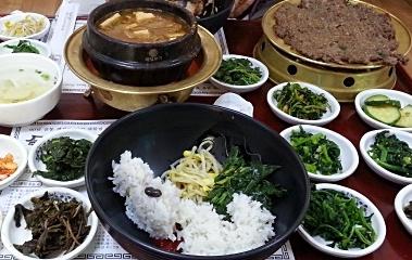 90년 전통, 나물로 차려낸 밥상