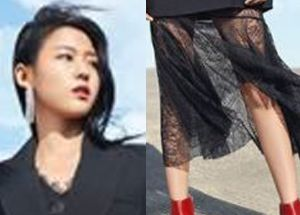 설현, 자켓 아래 망사로만 가려 드러난 '꿀벅지'