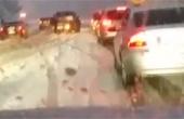 눈·비에 사고까지…고속도로 '귀경전쟁' 절정