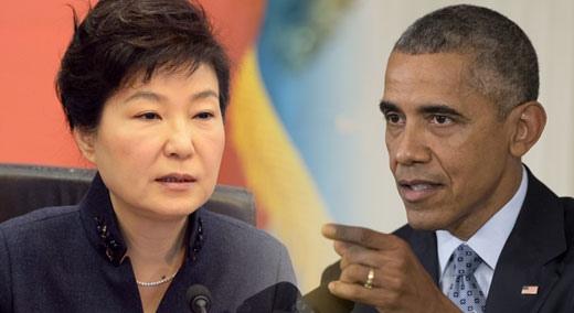 """[속보] 한·미 정상 """"강력한 대북 제재 결의 채택 협의"""""""