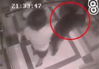 엘리베이터 성추행 치한을한방에 물리친 여성, 손 보니