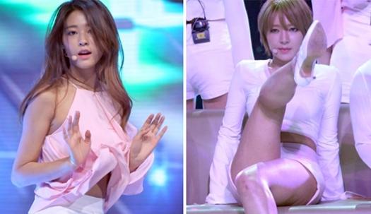 AOA 컴백무대 '살짝' 보이는 건···'아슬아슬'