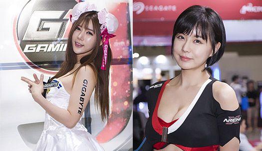 킨텍스에 나타난 여신들의 삼색매력!!