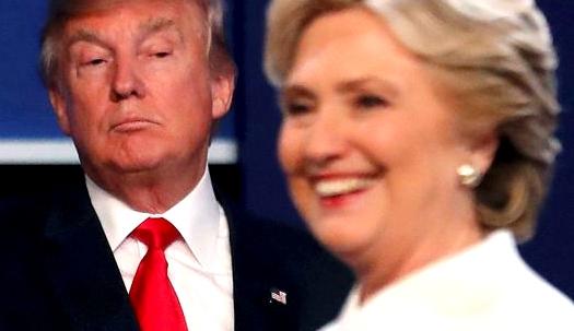사진으로 보면 클린턴, 트럼프에 압승