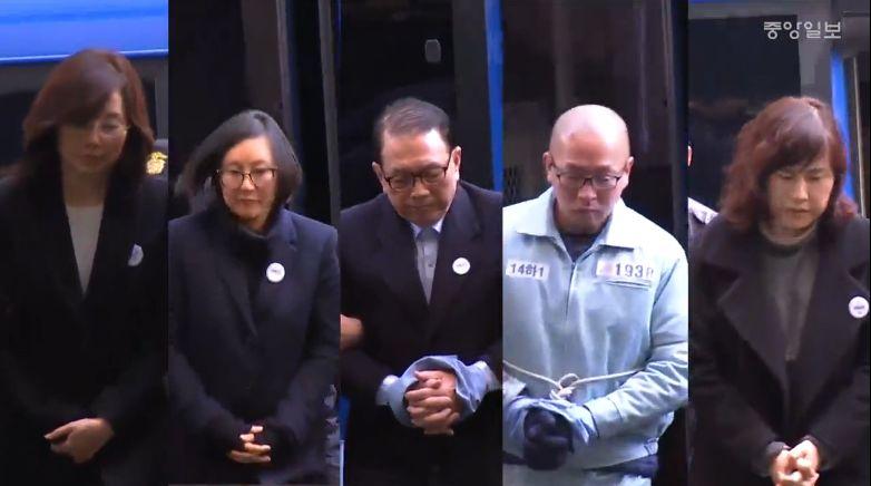 조윤선·장시호·김기춘·차은택... 호송차 타고 동시 특검 출석