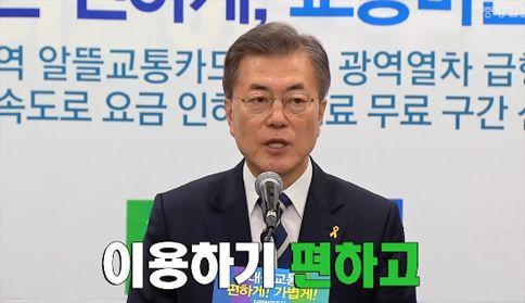 """文, 교통 공약 발표 """"지하철 6호선·분당선 등에 급행선 도입"""""""
