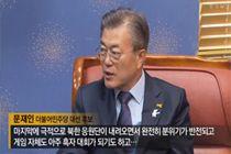 """文 """"북한응원단, 완전 자연미인이더라""""…외모품평 구설"""