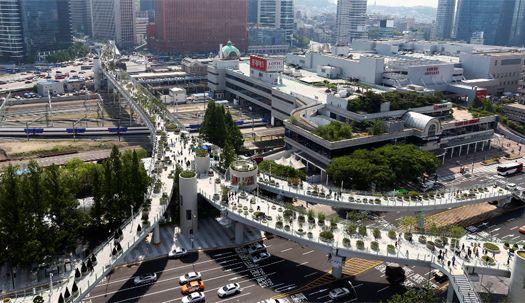 서울역 고가공원, 개장 첫날 풍경은