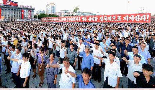 유엔대북제재 반대집회 北평양시민 표정보니