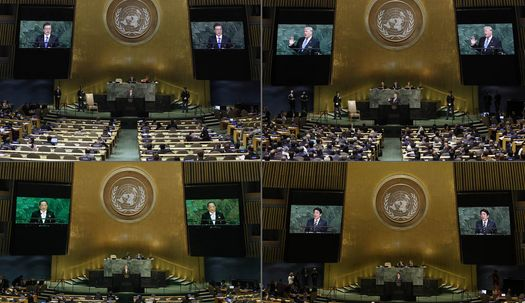 유엔총회장 연설, 한·미·일·북의 차이