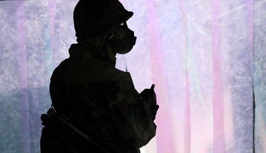 서울,화학탄 공격받으면-통합 방위훈련현장