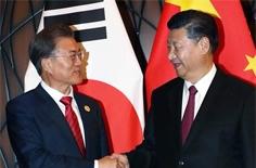 14일 찍힐 '사진 한 컷' <br/>文-시진핑 '표정 전쟁'