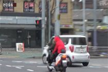 참혹한 오토바이 사고 순간