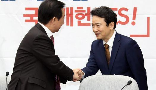 [포토사오정]남경필 복당 이유... '사랑받는 한국당 위해'