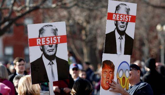 미 전역서 두 번째 여성행진, 트럼프 1년 성토