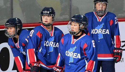 '한반도기'에 'KOREA', 남북 단일팀 첫 평가전