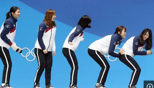 여자 쇼트트랙 대표팀, 세리머니 한 번 더?
