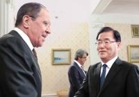 러시아 외무장관 만난 정의용 국가안보실장