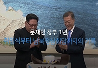 문재인 정부 1년, 취임식부터 남북정상회담까지의 기록