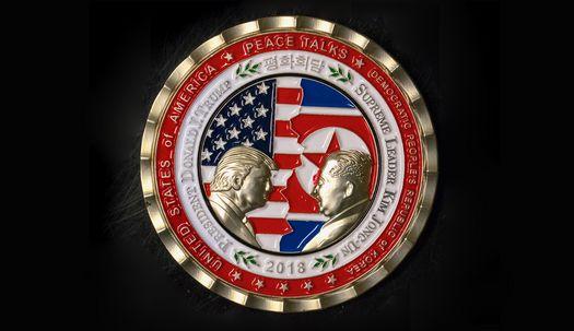 백악관, 트럼프-김정은 평화주화 발행