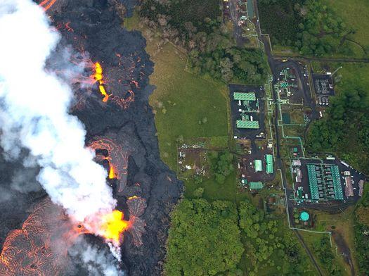 하와이 지열발전소, 용암 접근해 폐쇄작업