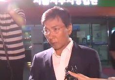"""차폐막 뒤 김지은 증언 들은 안희정 """"판단에 따르겠다"""""""