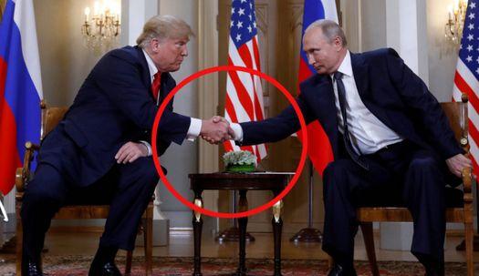 악명높은 트럼프 악수법에 푸틴 이번엔?