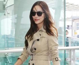 고소영, 가을 공항 패션 화제