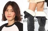 채정안, 독특한 부츠 패션 시선강탈