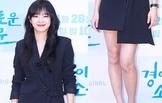 아이오아이 김세정, 시크한 미니 스커트 패션