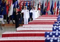 65년만에 고국으로..하와이서 미군 유해봉환식 엄수