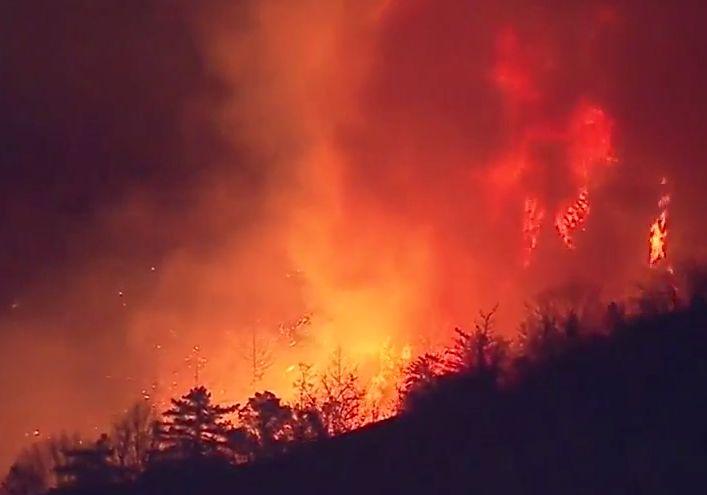 '서울시 2배 규모' 캘리포니아 산불, 우주에서도 포착돼
