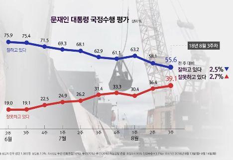 [11초 뉴스] 문 대통령 지지율 변화…2주연속 50%대