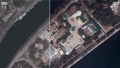 김정은 집권 전후 평양구글 위성으로 비교하니