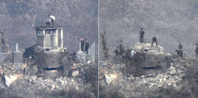 처음 공개된 DMZ 내 북한 GP 철거 모습