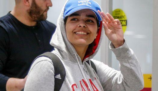 강제송환 위기 18세 사우디 여성, 캐나다 도착