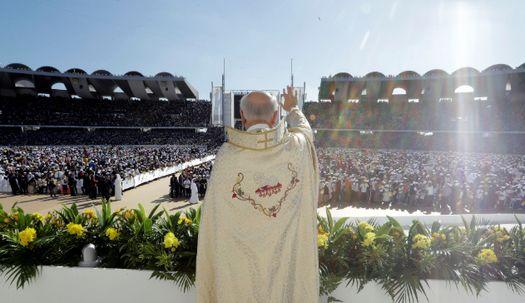 프란치스코 교황, 아라비아반도에서 첫 미사