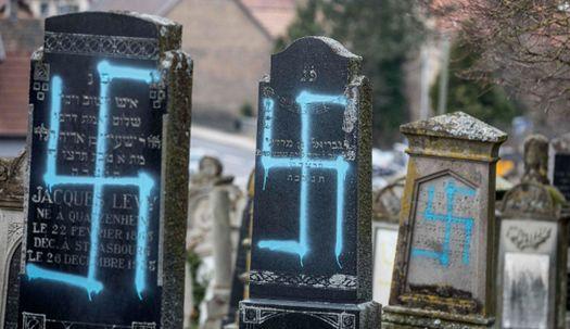 유대인 묘비 80개에 나치 상징 낙서, 이유는?