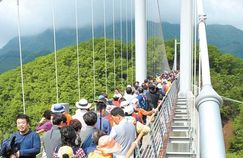 하늘다리 갖춘 지질공원 포천 한탄강 '현무암 협곡'