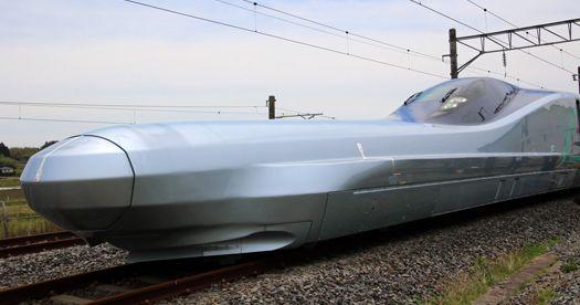 최고 시속 400km '알파-X' 신칸센 시험운행