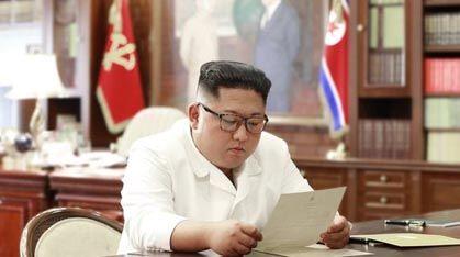"""[영상]트럼프 친서 받은 김정은 """"흥미로운 내용 심중히 생각"""""""