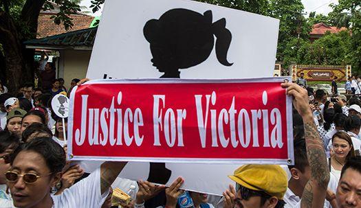 2살 성폭행, 충격의 미얀마...시민들 거리로