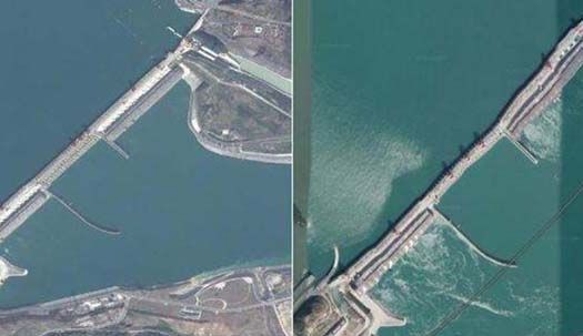 샨샤댐 붕괴 전조?중국 발칵 뒤집은 구글 사진 한장
