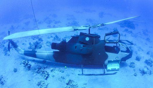 홍해에 빠진 헬기와 탱크, 수중 군사 박물관