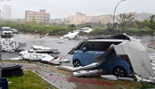 [서소문사진관]태풍 '타파'가 남긴 피해...남부 지방은 쑥대밭