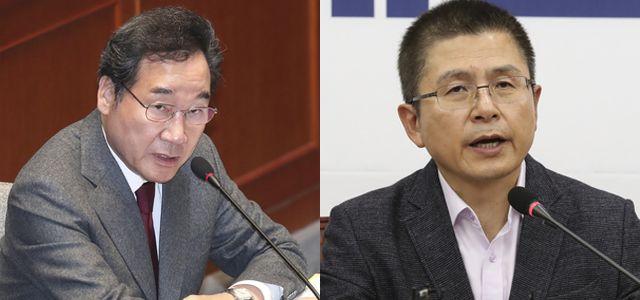한국당에 마음 안 연 중도층이낙연 24.7%, 황교안 9.8%