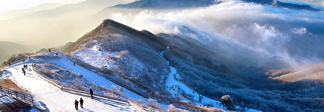 겨울 막바지 눈꽃 산행