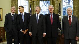 트럼프 작게 만든 전직 대통령들의 위로···이것이 미국의 힘