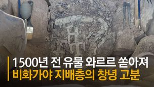 창녕 가야 무덤서 금동유물 '와르르'…신라 귀족여인 판박이