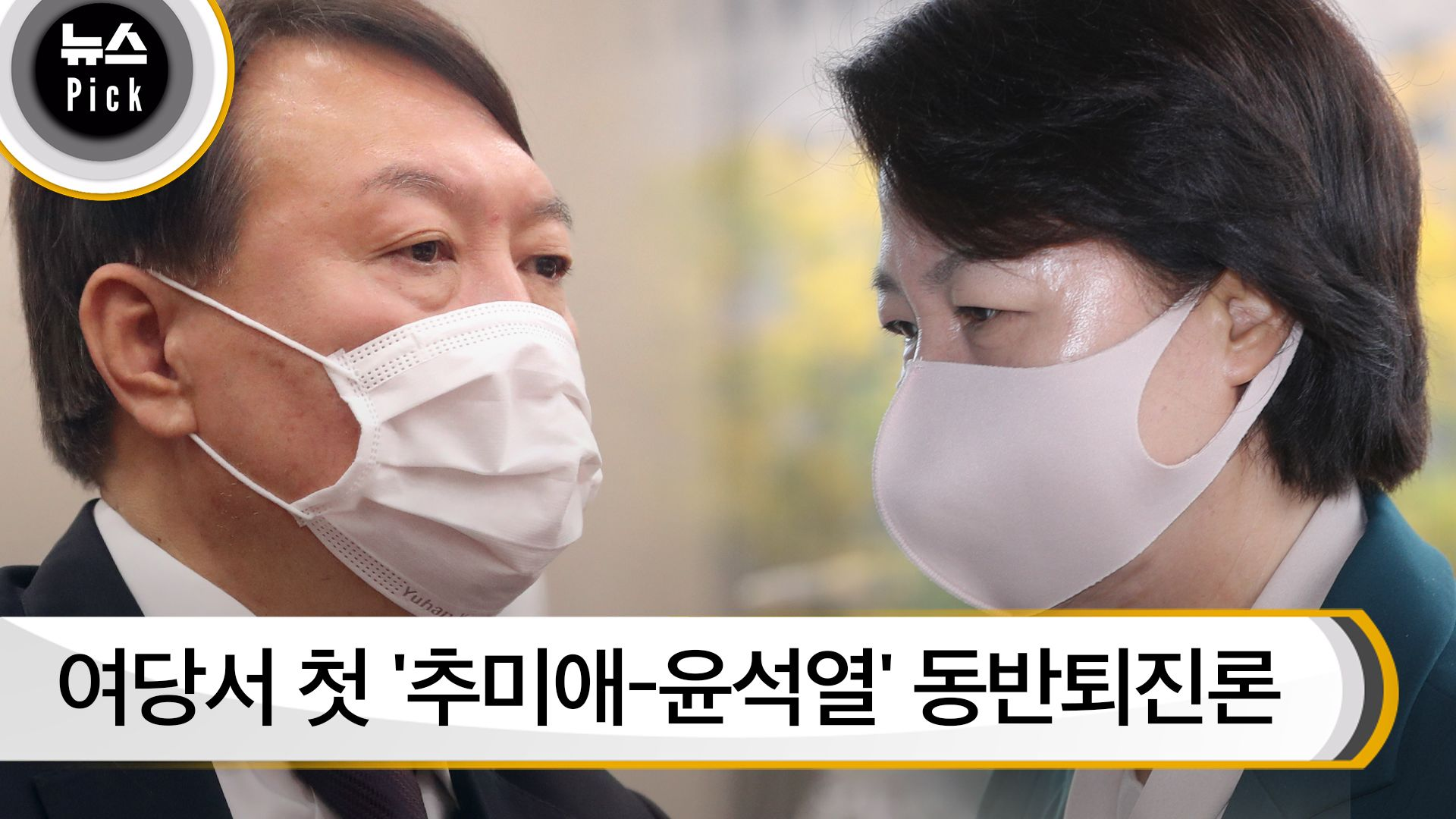 [뉴스픽]여당서 첫 '추미애-윤석열' 동반퇴진론